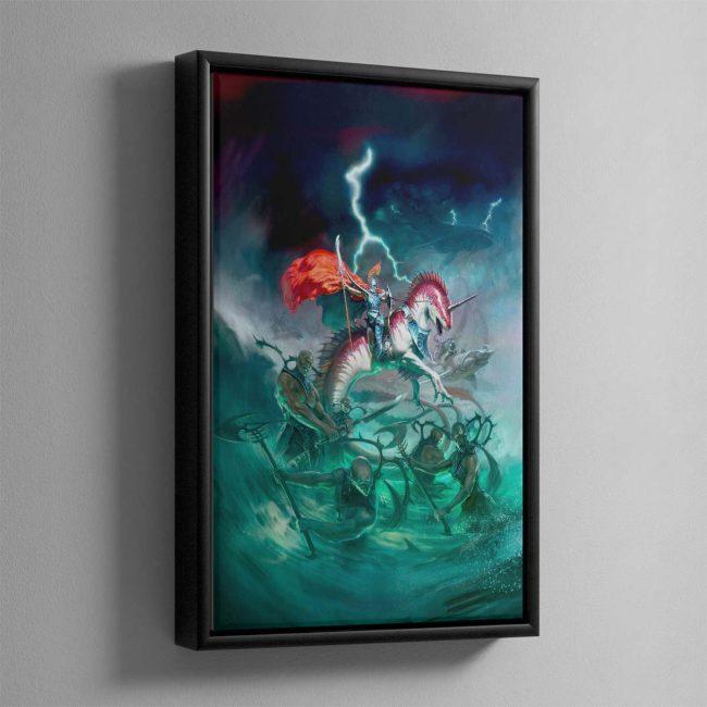 Idoneth Deepkin – Framed Canvas