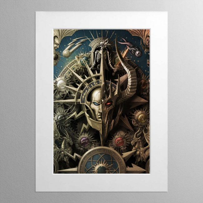 The Light and the Dark – Mounted Print
