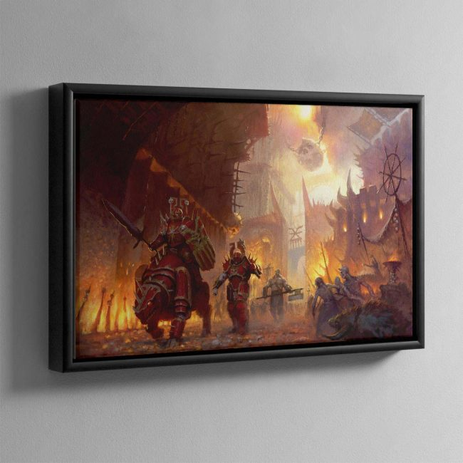 The dominion of Chaos – Framed Canvas