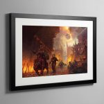 The dominion of Chaos – Framed Print