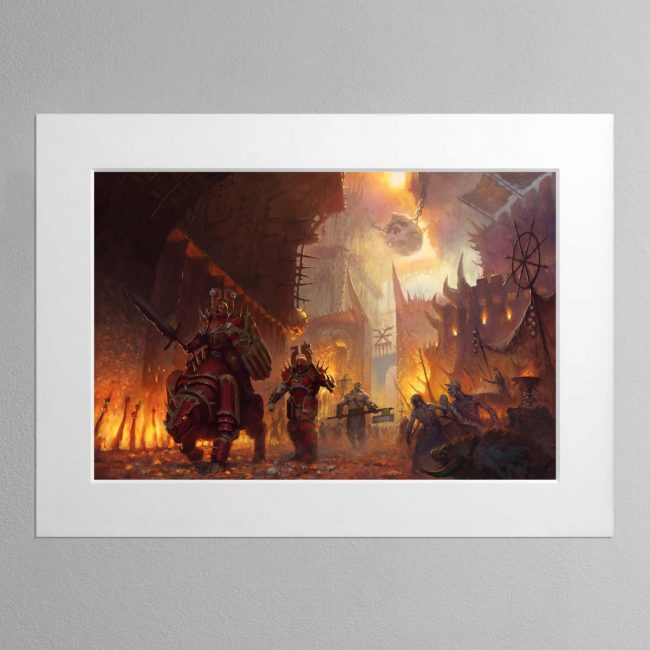 The dominion of Chaos – Mounted Print