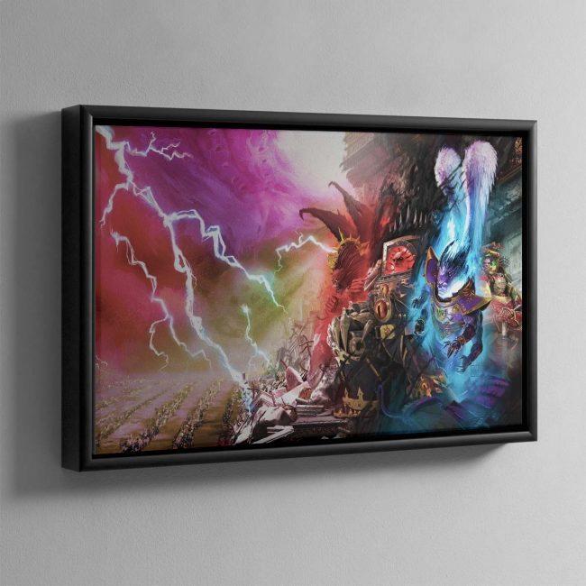 Slaves to Darkness – Framed Canvas