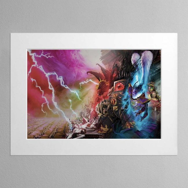 Slaves to Darkness – Mounted Print