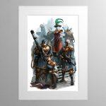 Elucian Starstriders – Mounted Print
