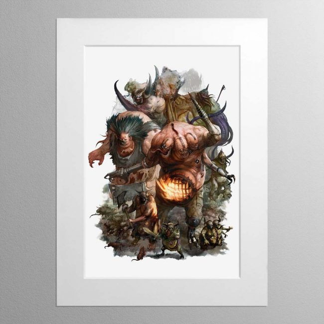 Gellerpox Infected – Mounted Print