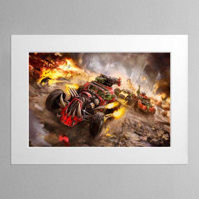 Speed freekz – Mounted Print