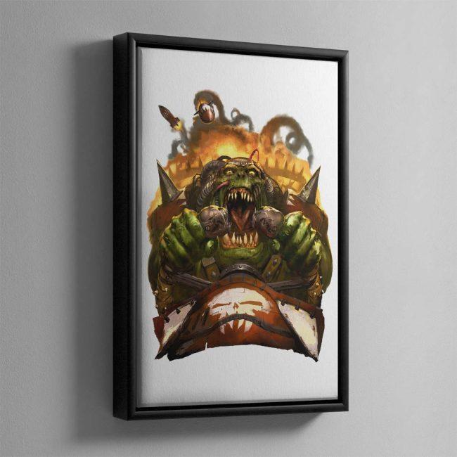 Waaagh! – Framed Canvas