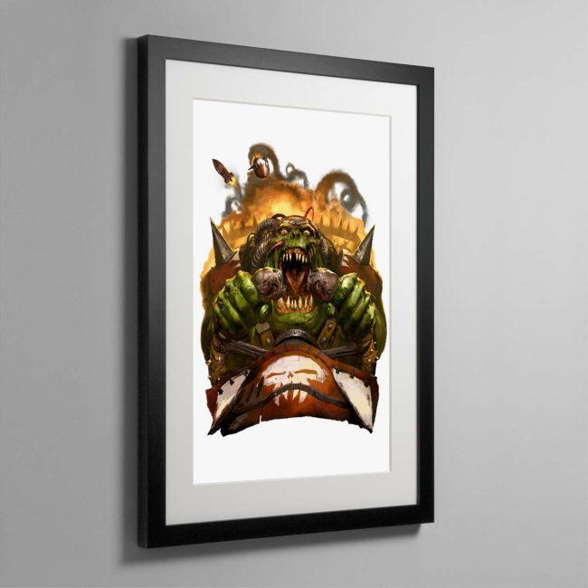 Waaagh! – Framed Print