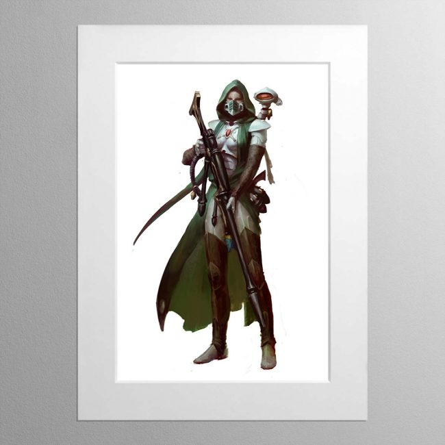 Amallyn Shadowguide, Asuryani Ranger – Mounted Print