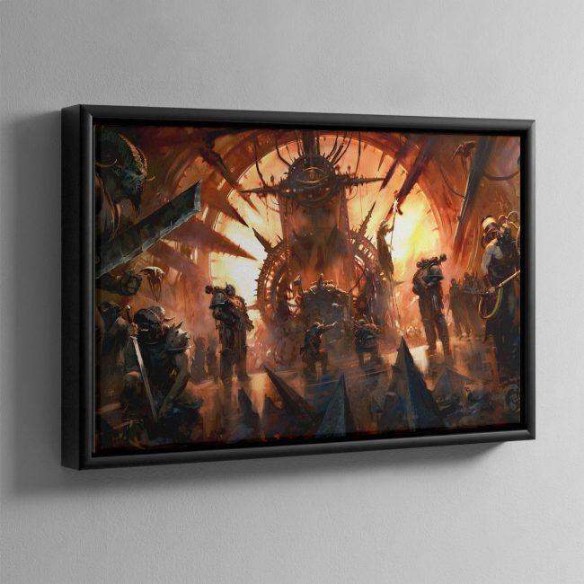 Chaos Throneroom – Framed Canvas