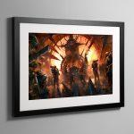 Chaos Throneroom – Framed Print
