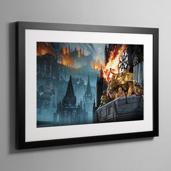 Heralds of the Siege – Framed Print