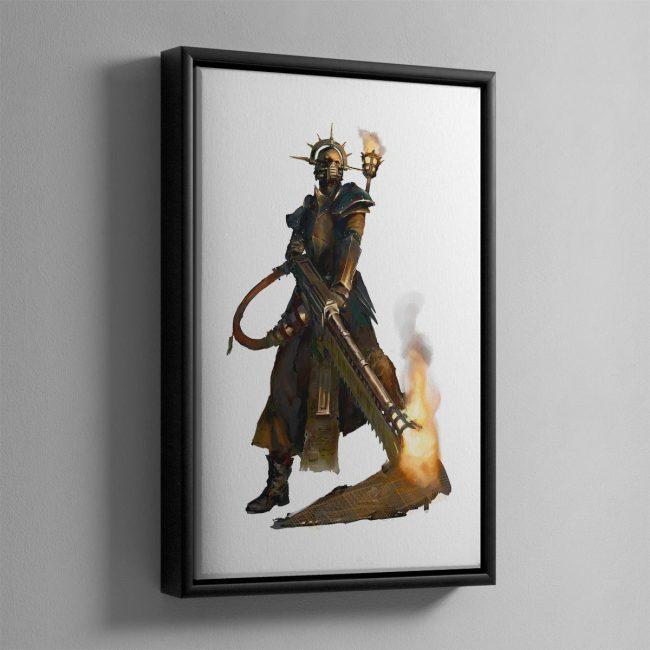 Pious Vorne, Missionary Zealot – Framed Canvas