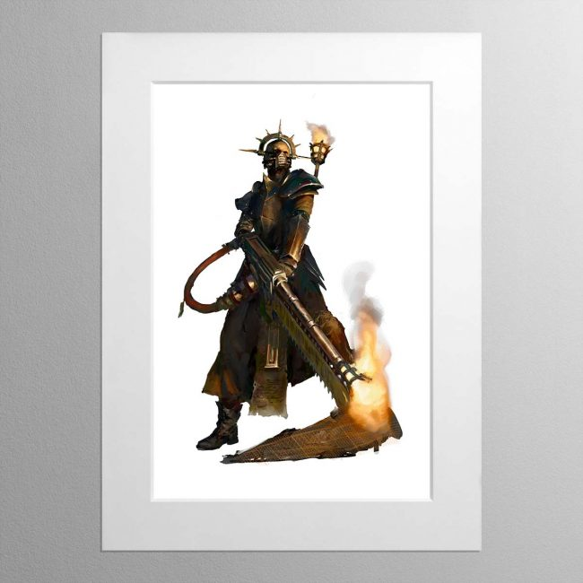 Pious Vorne, Missionary Zealot – Mounted Print