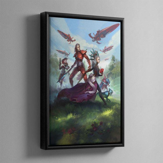 Rise of the Ynnari Wild Rider – Framed Canvas
