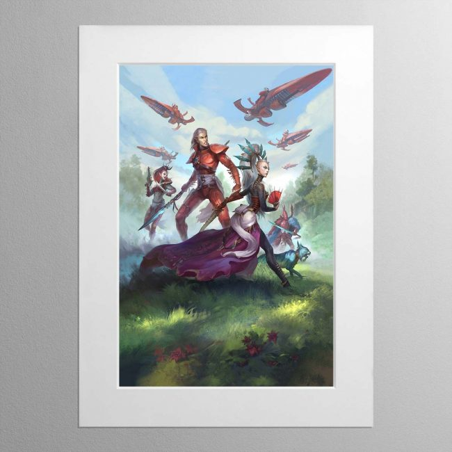 Rise of the Ynnari Wild Rider – Mounted Print
