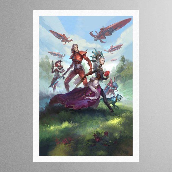 Rise of the Ynnari Wild Rider – Print
