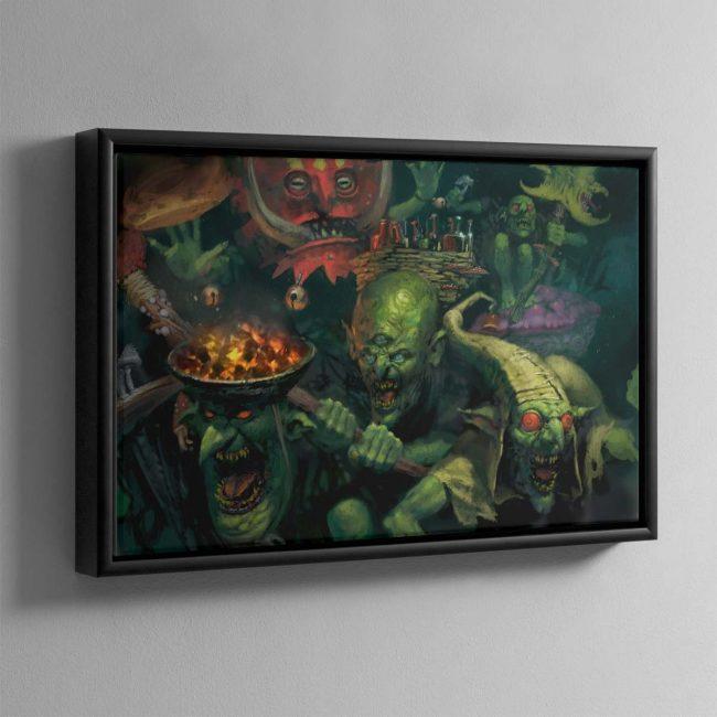 Gobbapalooza – Framed Canvas