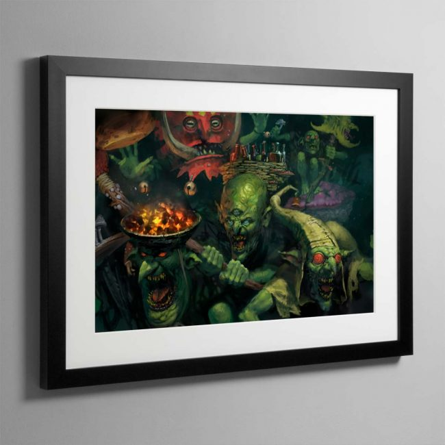Gobbapalooza – Framed Print