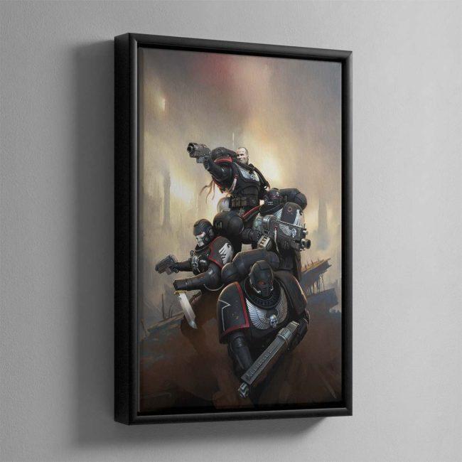 Raven Guard Kill Team – Framed Canvas