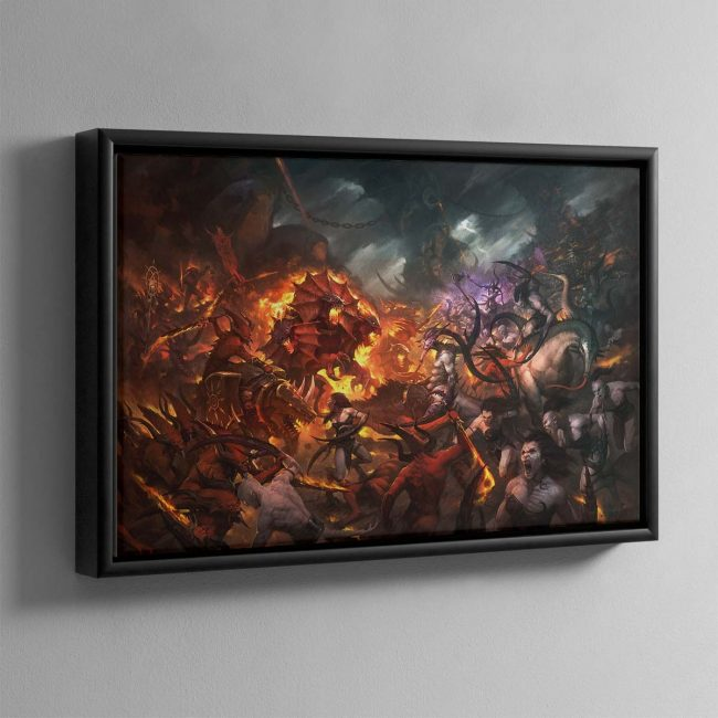 Realm of Chaos Wrath and Rapture – Framed Canvas