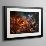 Realm of Chaos Wrath and Rapture – Framed Print