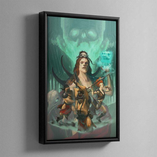 The Godsworn Hunt – Framed Canvas