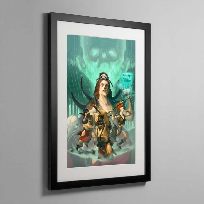 The Godsworn Hunt – Framed Print
