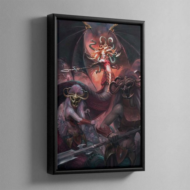 Morathi, The Shadow Queen – Framed Canvas