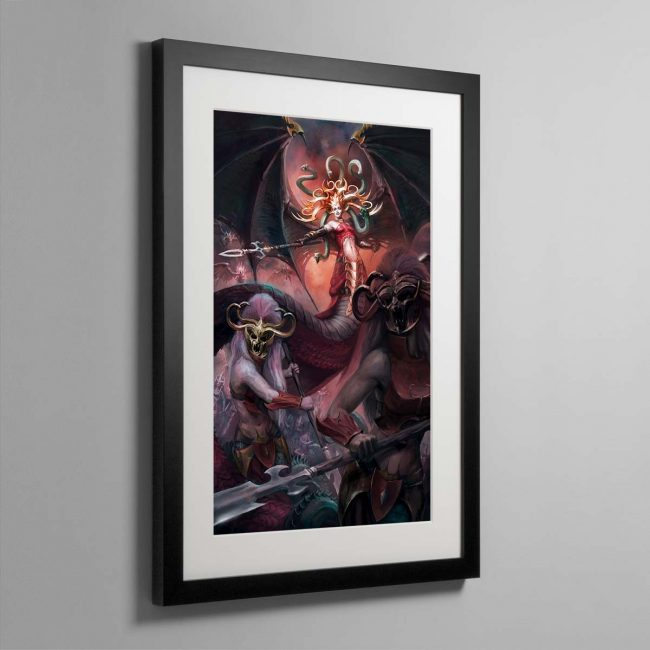 Morathi, The Shadow Queen – Framed Print