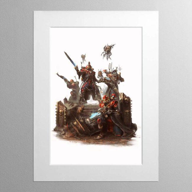 Skitarii Vanguard – Mounted Print