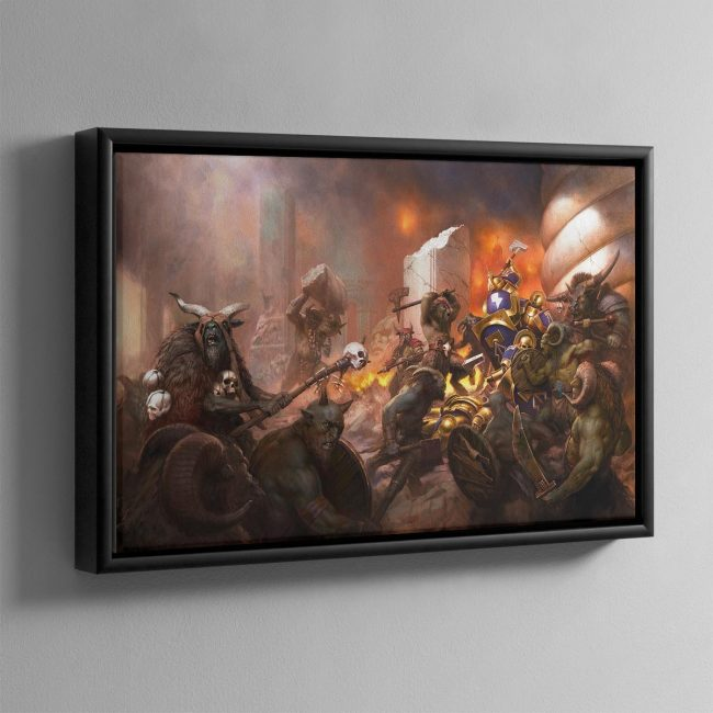 The Beasts of Chaos Gather- Framed Canvas