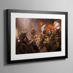 The Beasts of Chaos Gather- Framed Print