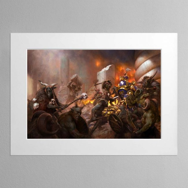 The Beasts of Chaos Gather- Mounted Print