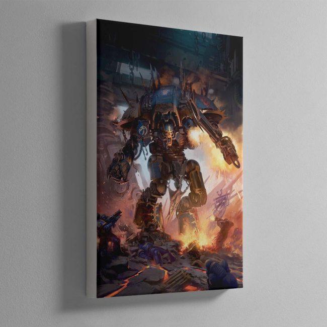 Chaos Knight Codex cover art 2019 – Canvas