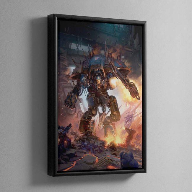 Chaos Knight Codex cover art 2019 – Framed Canvas