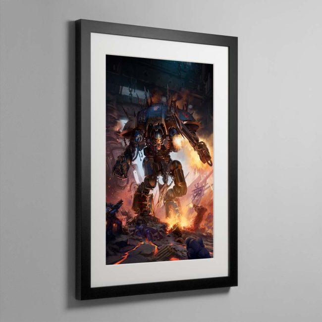 Chaos Knight Codex cover art 2019 – Framed Print