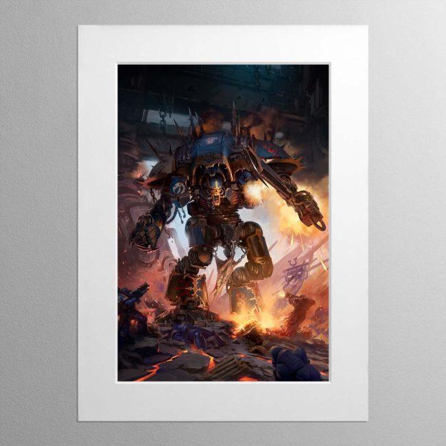 Chaos Knight Codex cover art 2019 – Mounted Print