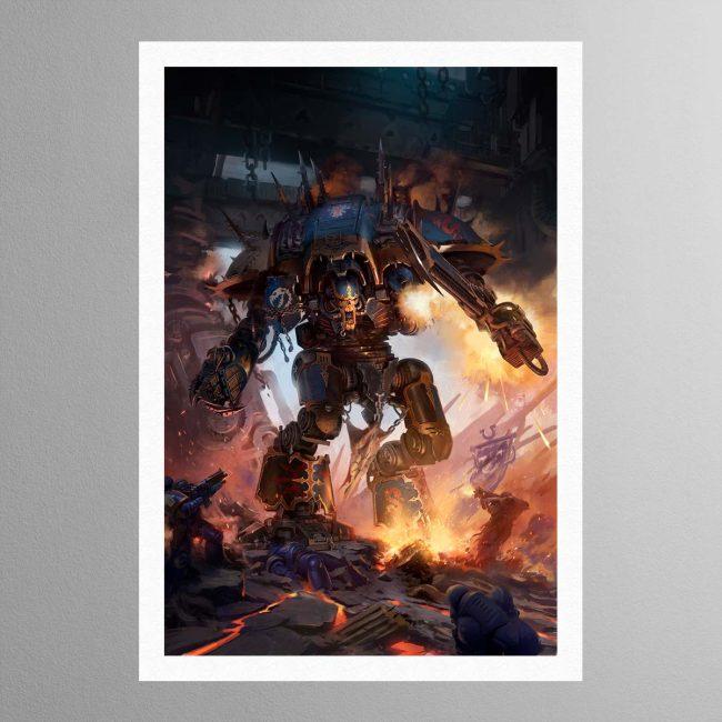 Chaos Knight Codex cover art 2019 – Print