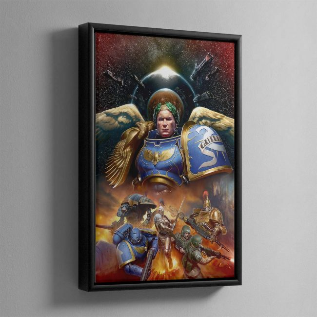 Roboute Guilliman, Primarch of the Ultramarines – Framed Canvas