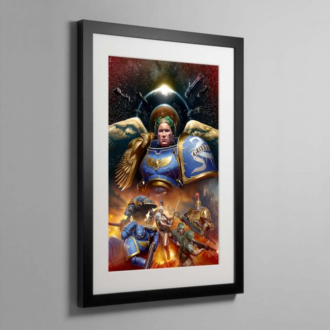 Roboute Guilliman, Primarch of the Ultramarines – Framed Print