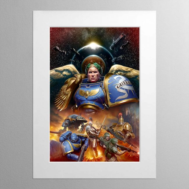 Roboute Guilliman, Primarch of the Ultramarines – Mounted Print