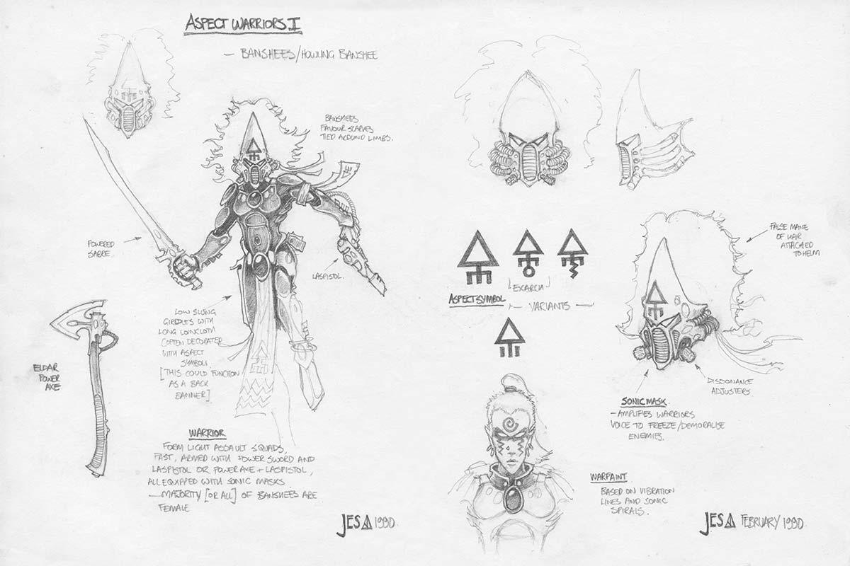 Howling Banshee Concept Sketch