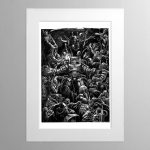 Space Marine Donning Terminator Armour – Mounted Print