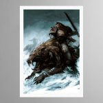 Space Wolf on Thunderwolf – Print