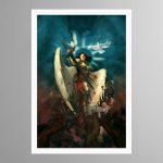 Celestine The Living Saint – Print