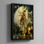 Saint Celestine – Framed Canvas