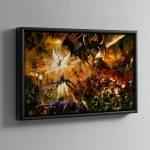 Saint Celestine vs Chaos – Framed Canvas