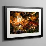 Saint Celestine vs Chaos – Framed Print