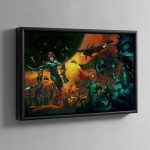 Drukhari – Framed Canvas